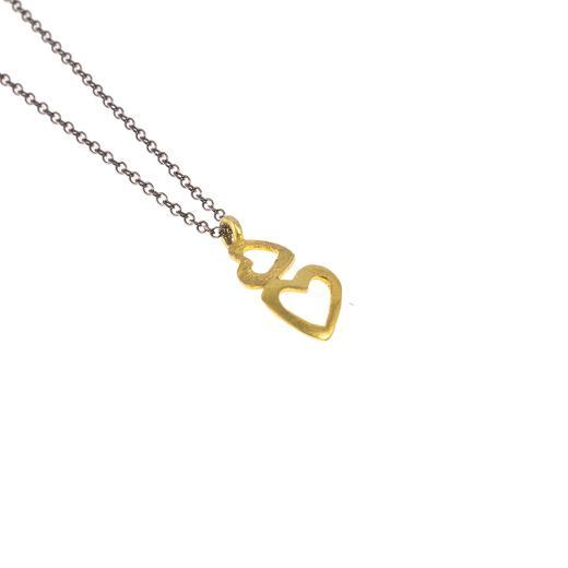 """Μενταγιόν """"HEARTS"""" σε κίτρινο 14ΚΤχρυσό."""