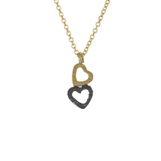 """Μενταγιόν """"HEARTS"""" σε κίτρινο 14ΚΤ χρυσό."""
