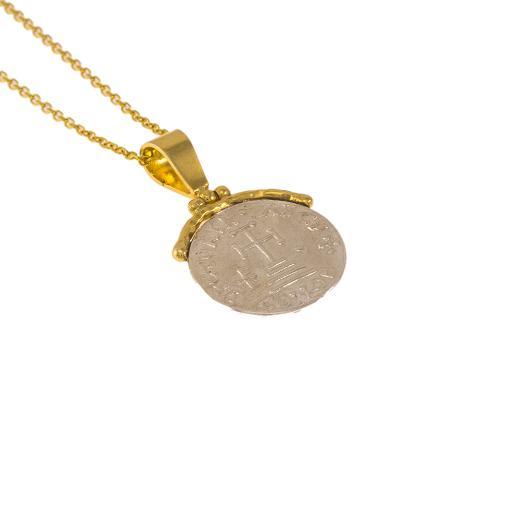 Φυλαχτό αγιοκωνσταντινάτο με χρυσό κούμπωμα 14ΚΤ.
