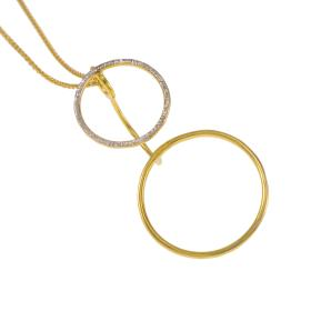 "Pendants ""CYCLE""  in gold plated silver and silver"