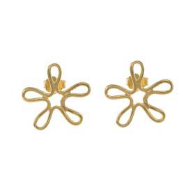 """Σκουλαρίκια """"DAISIES""""σε κίτρινο χρυσό 14ΚΤ."""