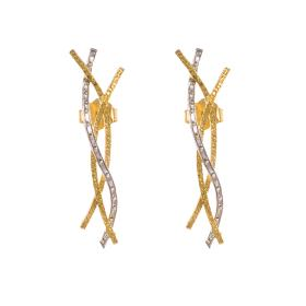 Σκουλαρίκια σε κίτρινο χρυσό 14ΚΤ.