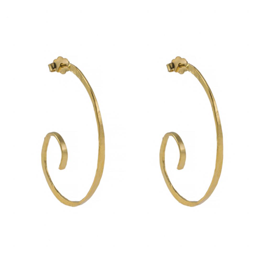 Σκουλαρίκια ''LINK'' σε κίτρινο χρυσό 14ΚΤ.