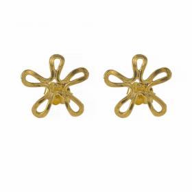 """Σκουλαρίκια """"DAISIES"""" σε κίτρινο χρυσό 14ΚΤ."""
