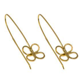"""Σκουλαρίκια """"FLOWERS""""  σε κίτρινο χρυσό 14ΚΤ."""