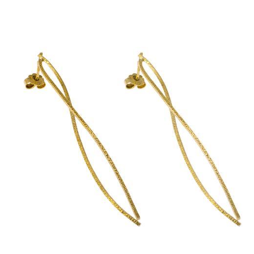 """Σκουλαρίκια """"LINES"""" σε κίτρινο χρυσό 14ΚΤ."""