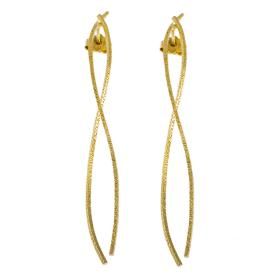 "Earrings ""LINES""   gold14kt"