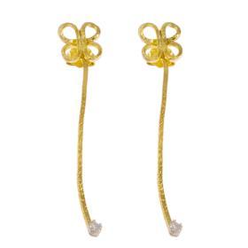 """Σκουλαρίκια """"DAISIES""""σε κίτρινο χρυσό 14ΚΤ με  ζιργκόν"""