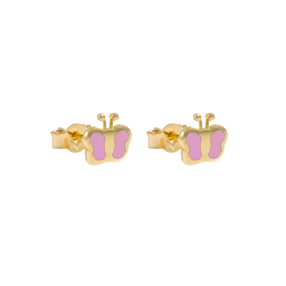 Earrings butterfly gold14kt