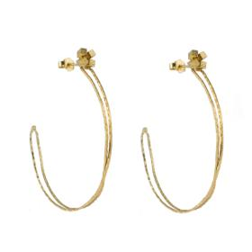 "Earrings ""LINKS"" WITH""CUBES"" gold 14kt"