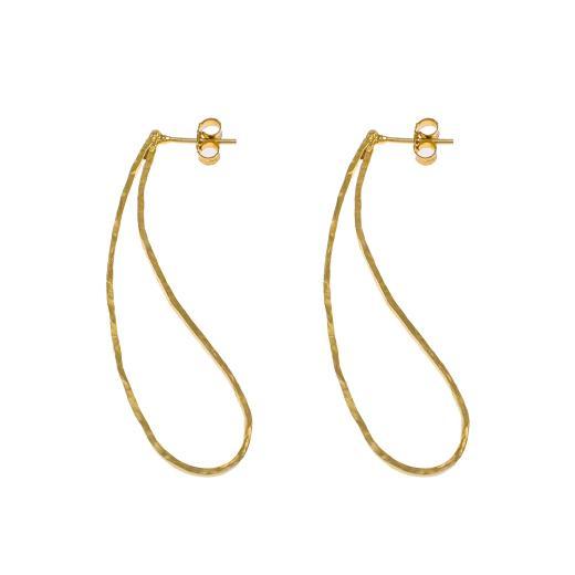 """Σκουλαρίκια """"LINKS"""" σε κίτρινο χρυσό 14ΚΤ."""