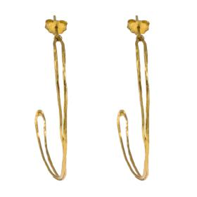 "Earrings ""LINKS"" gold 14kt"