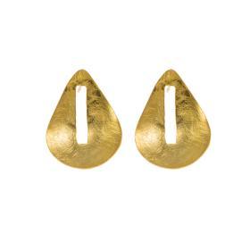 """Σκουλαρίκια """"DROP"""" σε επιχρυσωμένο ασημί .     SK005890"""