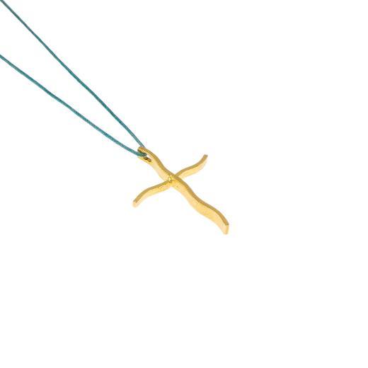 """Σταυρός """"LINES"""" σε κίτρινο χρυσό 14ΚΤ."""