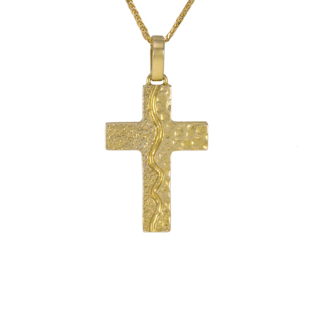 Σταυρός  σε κίτρινο χρυσό 14ΚΤ.
