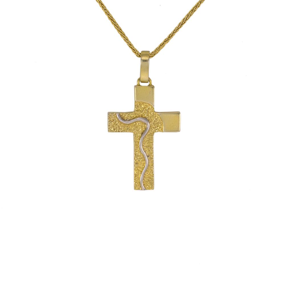 Σταυρός σε κίτρινο χρυσό 14Κ.