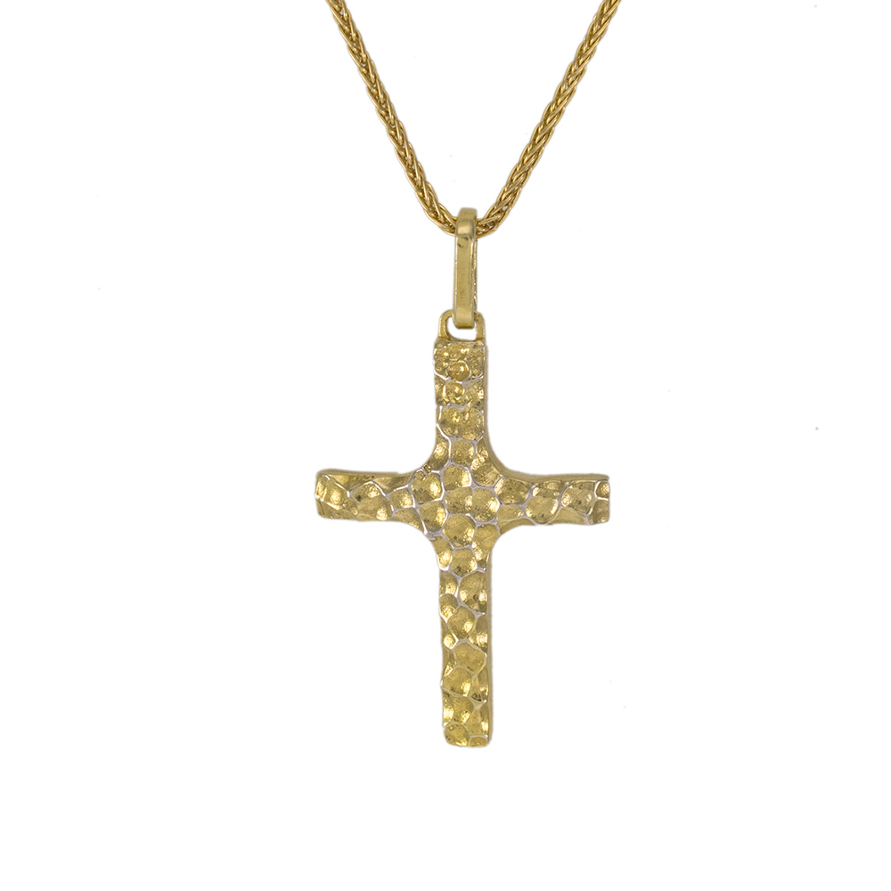 """Σταυρός """"LAVA"""" σε κίτρινο χρυσό 14ΚΤ."""