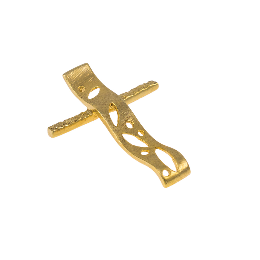 Σταυρός σε κίτρινο ματ  χρυσό 14ΚΤ.