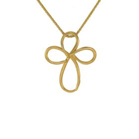 Cross in yellow  gold 14 kt.