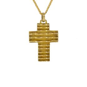 "Cross ""WAVES"" gold 14 kt."