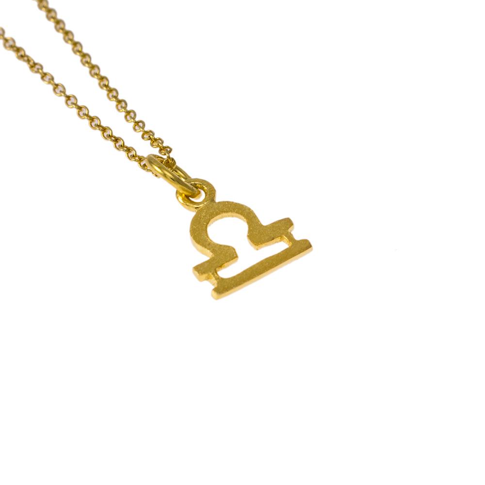 Mενταγιόν Ζυγός ζώδιο σε χρυσό 14Κτ.