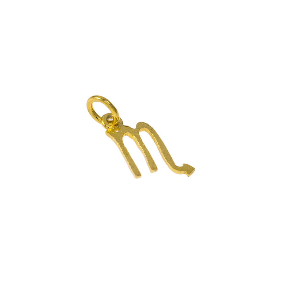 Mενταγιόν ζώδιο Σκορπιός σε χρυσό 14Κτ.