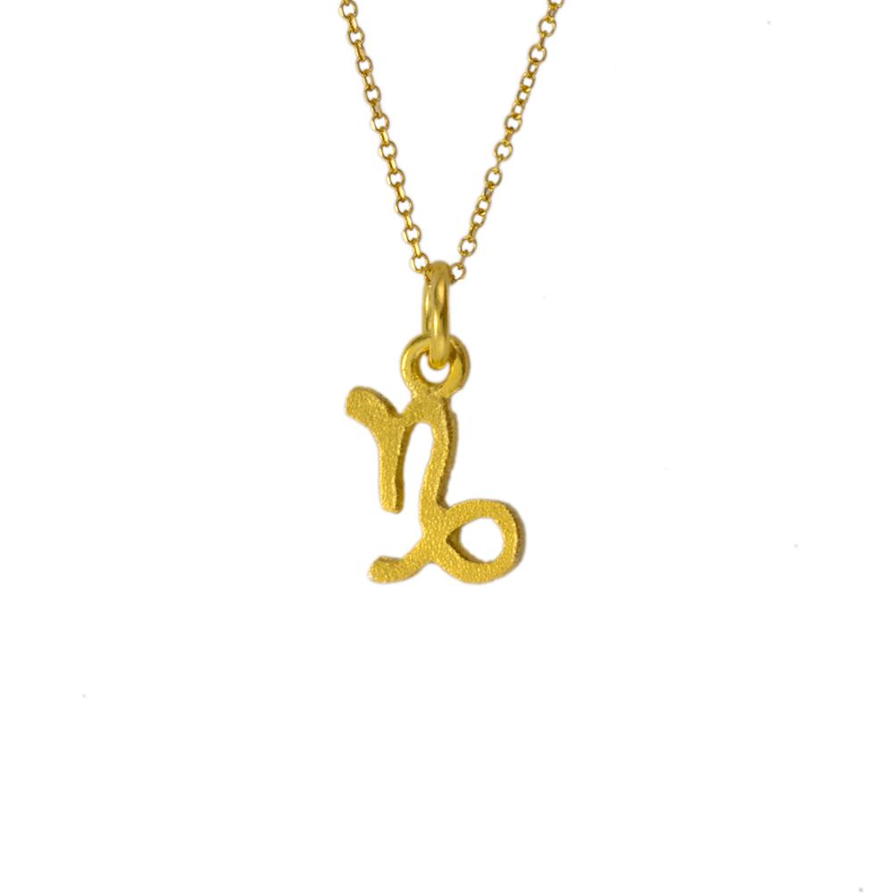 Mενταγιόν Αιγόκερως ζώδιο σε χρυσό 14Κτ.