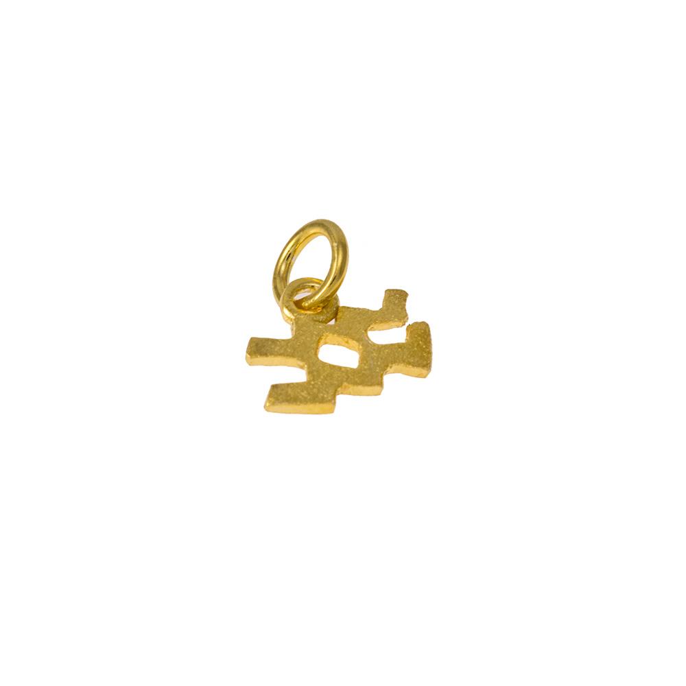 Mενταγιόν ζώδιο Υδροχόος σε χρυσό 14Κτ.
