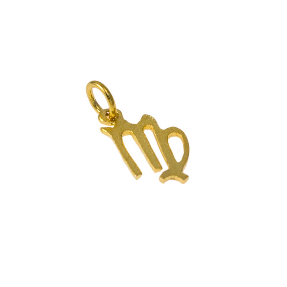 Mενταγιόν Παρθένος ζώδιο σε χρυσό 14Κτ.