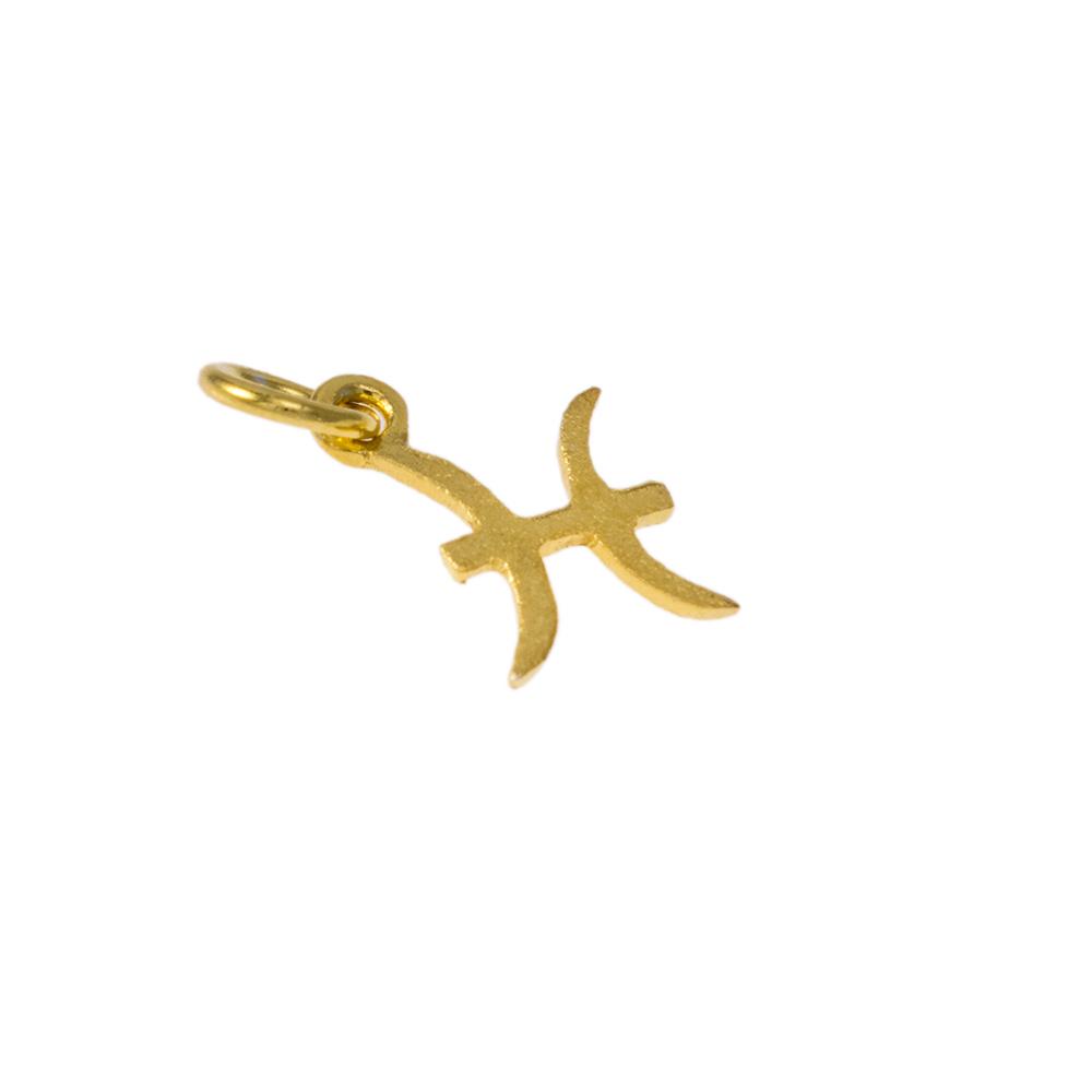 Mενταγιόν ζώδιο Ιχθείς σε χρυσό 14Κτ.