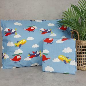 Σεντόνια Παιδικά Σετ 170x260cm Astron Blue Sky Βαμβακερά