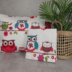 Παπλωματοθήκη Παιδική 160x240cm Astron Cute Owls Βαμβακερή