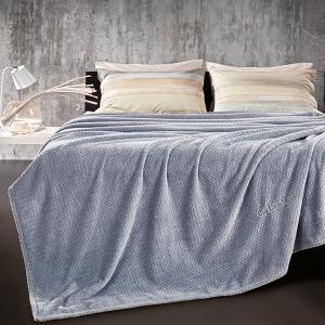 Κουβέρτα Fleece Μονή 160x220cm Guy Laroche Rombus Sky