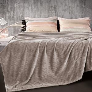 Κουβέρτα Fleece Υπέρδιπλη 220x240cm Guy Laroche Rombus Wenge