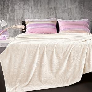 Κουβέρτα Fleece Μονή 160x220cm Guy Laroche Rombus Ecru