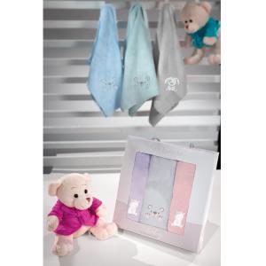 Βρεφικές Πετσέτες Χεριών Σετ 3τμχ Guy Laroche Baby Girl