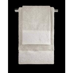 Πετσέτες Σετ 3 Τεμαχίων Guy Laroche Maeva Natural