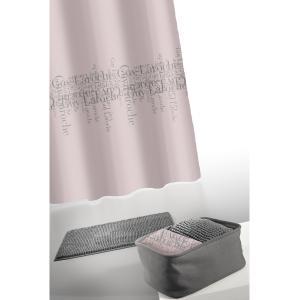 Κουρτίνα Μπάνιου + Πατάκι Σετ Guy Laroche Abbey Anthracite