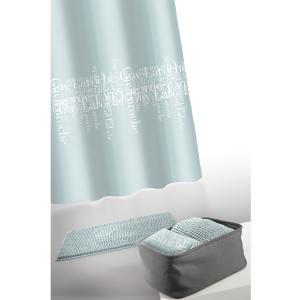 Κουρτίνα Μπάνιου + Πατάκι Σετ Guy Laroche Abbey Aqua