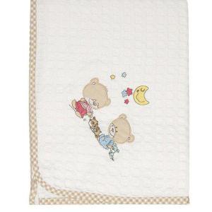 Κουβέρτα Πικέ Κούνιας 100x160cm Dimcol Happy Bears 21