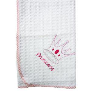 Κουβέρτα Πικέ Κούνιας 100x160cm Dimcol Princess 33