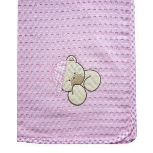 Κουβέρτα Πικέ Κούνιας 100x160cm Dimcol Αρκούδος 103