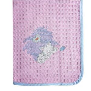 Κουβέρτα Πικέ Κούνιας 100x160cm Dimcol Γατάκι 127