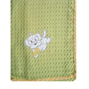 Κουβέρτα Πικέ Κούνιας 100x160cm Dimcol Σκυλάκι 120