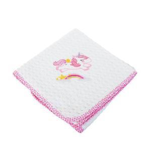 Κουβέρτα Πικέ Κούνιας 100x160cm Dimcol Unicorn 42