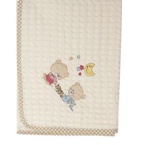 Κουβέρτα Πικέ Κούνιας 100x160cm Dimcol Happy Bears 22