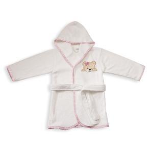 Μπουρνούζι Βρεφικό Dimcol Sleeping Bears Cub 12 Λευκό-Ροζ