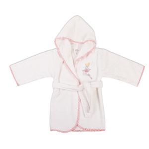 Μπουρνούζι Βρεφικό Dimcol Νεράιδα 36 Λευκό-Ροζ