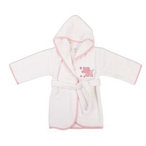 Μπουρνούζι Βρεφικό Dimcol Ελεφαντάκι 17 Λευκό-Ροζ