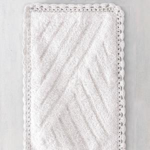 Πατάκι Μπάνιου 50x80cm Rythmos Emperor Λευκό Βαμβακερό